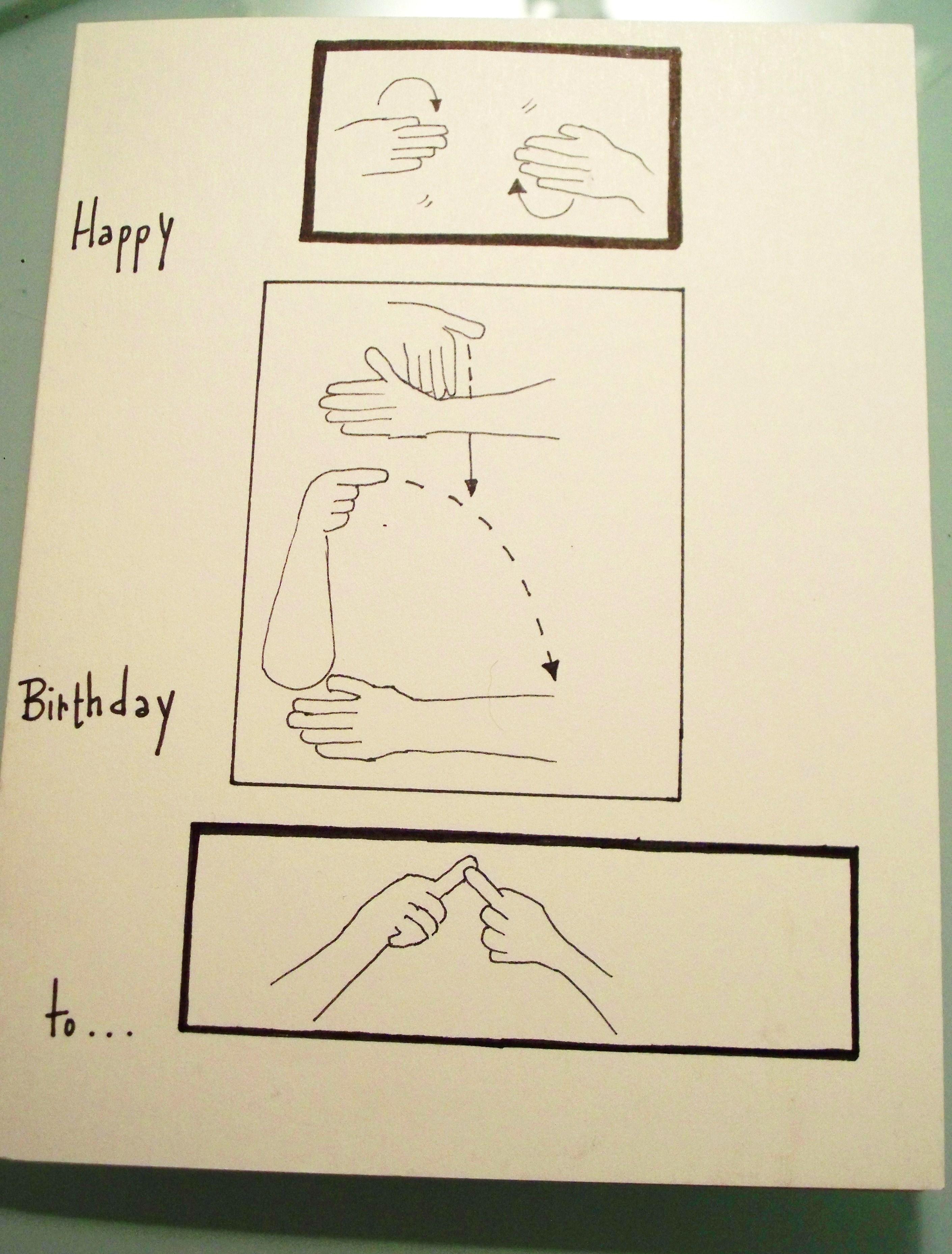 Happy Birthday Asl Cards Music Art